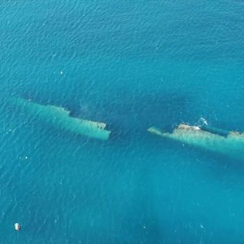 Wreck of German freighter from World War II 6   Arubiana